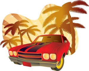 Car Palm Trees C