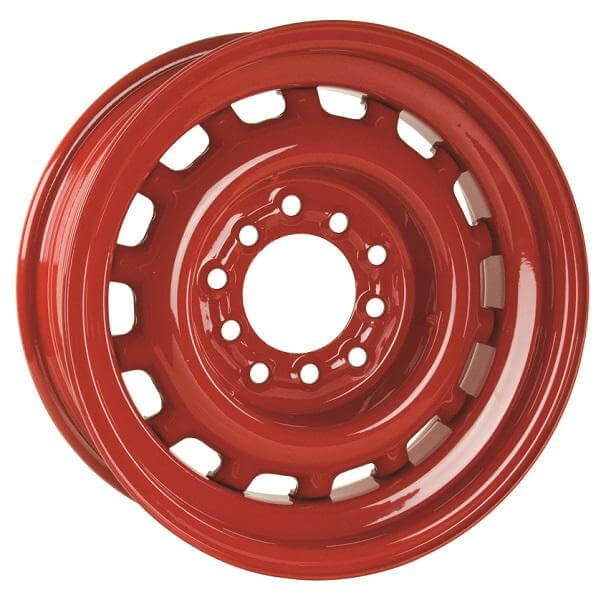 ARTILLERY BARON RED RIM with TRIM RING by HRH STEEL WHEELS ...