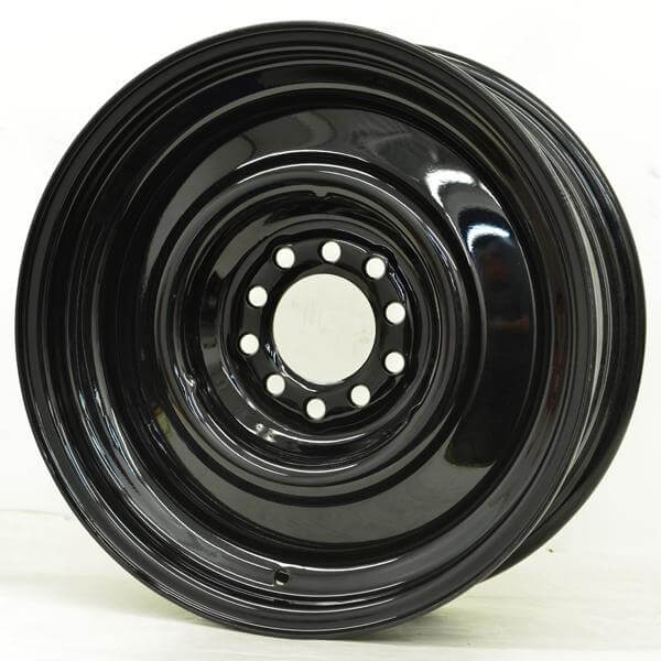 Tire Size Chart >> HOTRODHANKS STEEL SMOOTHIE BLACK RIM - Cap Not Included by HRH STEEL WHEELS Wheel Size 17x7 ...