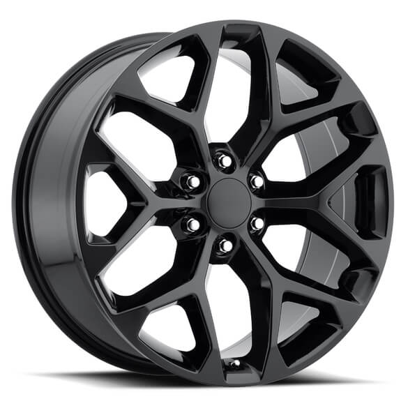 Chevy Snowflake 2014 Style 59 Gloss Black Rim With Cap By