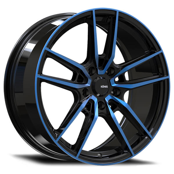 MYTH GLOSS BLACK RIM with BLUE TINTED CLEARCOAT by KONIG ...