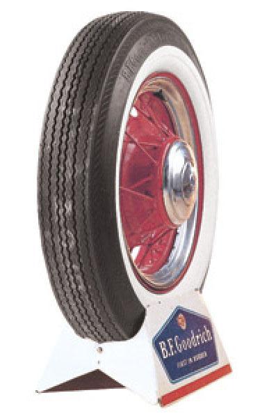 vintage  whitewall bias ply tire  bfgoodrich vintage antique tire size   performance