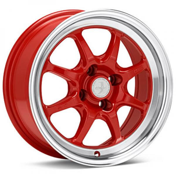 j speed red rim with machined lip by enkei classic series wheels wheel size 15x8 performance. Black Bedroom Furniture Sets. Home Design Ideas
