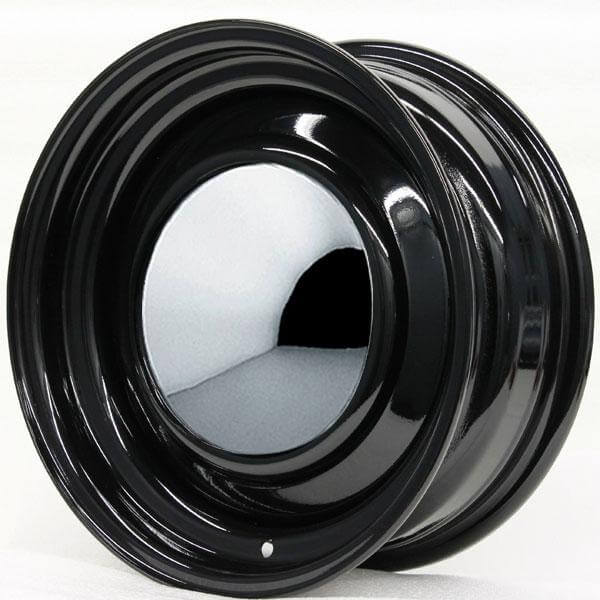 SMOOTHIE BLACK RIM WITH SMOOTHIE CAP AND TRIM RING by HRH STEEL WHEELS - Performance Plus Tire
