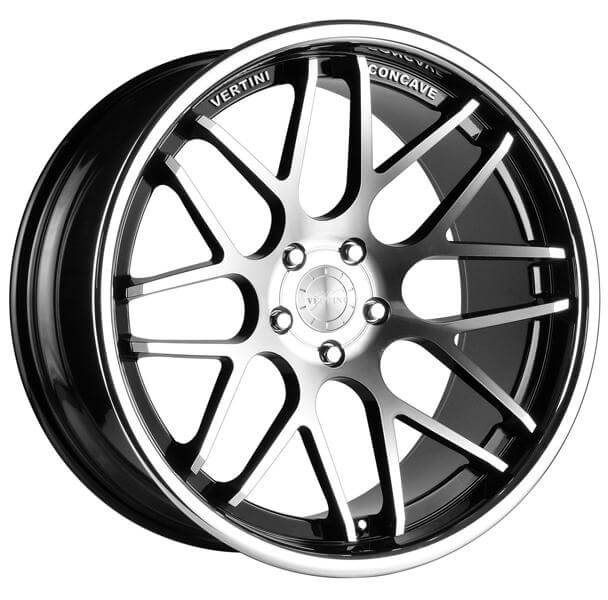 Wheel Replicas V1167 Dodge Charger Srt8 Machined Face And Lip Black