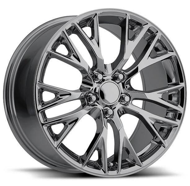 corvette z06 c7 chrome wheel 19x12 2006 2004 wheels reproductions factory package 1997 18x9 cap c5 tire custom rim sizes