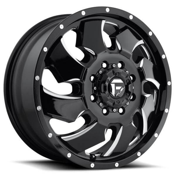 Cleaver 2001: CLEAVER DUALLY D574 BLACK MILLED FRONT RIM By FUEL OFFROAD