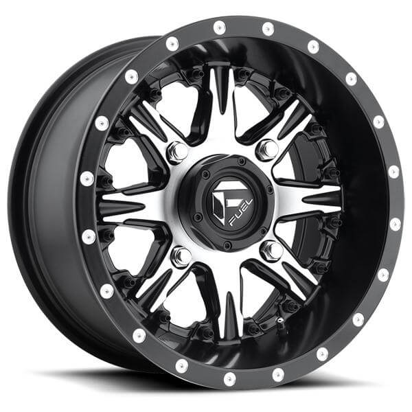Nutz Utv D541 Black Rim With Machined Face By Fuel Offroad